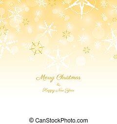 lichten, kerstmis, achtergrond, gouden