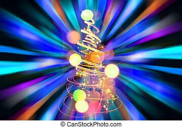 lichten, kerstmis, achtergrond
