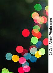lichten, kerstmis, vaag