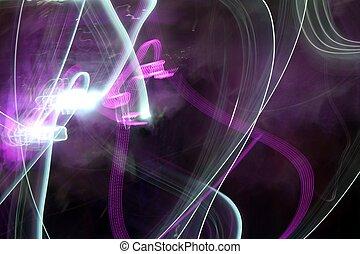 lichten, nacht, abstract