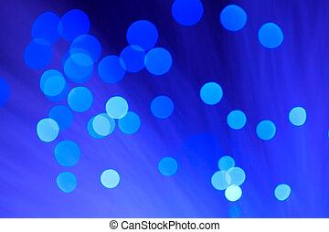 lichten, op, blauwe , achtergrond.