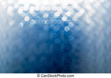 lichten, op, blauwe achtergrond