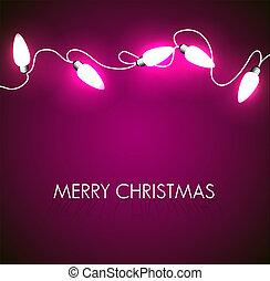 lichten, witte , vector, kerstmis, achtergrond