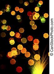 Lichter, Abstrakt, Fokus, hintergrund, heraus