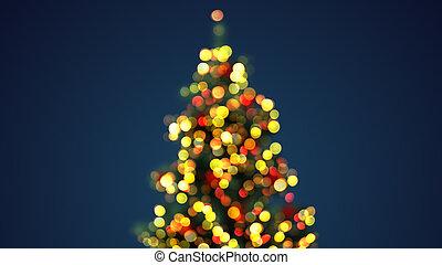 lichter, baum, defocused, weihnachten