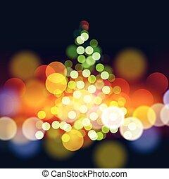 lichter, baum, weihnachten, hintergrund
