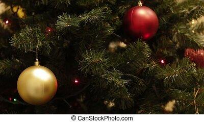 lichter, baum, weihnachtsgirlande