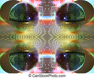 lichter, discoball