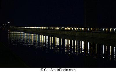 Lichter, Fluß, Reihe