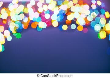 lichter, fokus, weihnachten