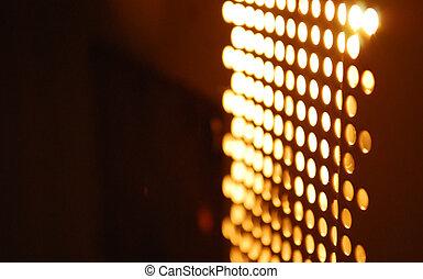 lichter, glühen, blurry, abstrakt