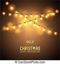lichter, glühen, warm, weihnachten