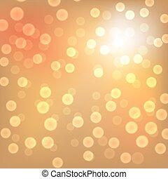 lichter, gold, weihnachten, hintergrund