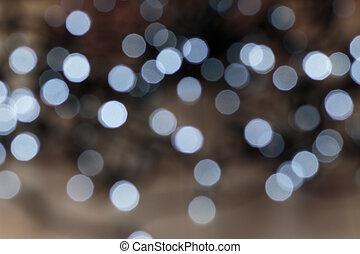 Lichter, heraus, Fokus, hintergrund, Weihnachten