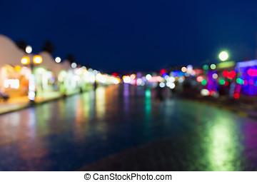 Lichter, straße, heraus, Fokus, Nacht