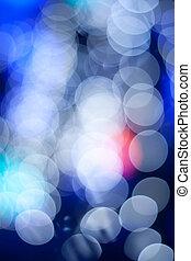 lichter, straße, weihnachten, defocused, nacht