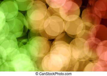 Lichter, Verwischt, Fokus, heraus