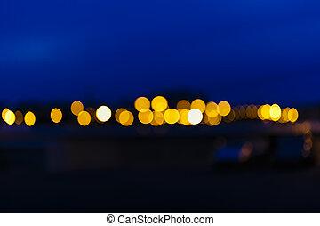 lichter, von, fokus, hintergrund