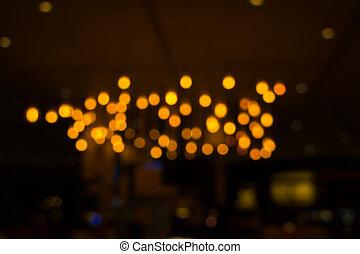 lichter, von, fokus, linse, verwischen, (lights, city)