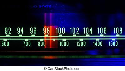 lichter, wählscheibe, radio