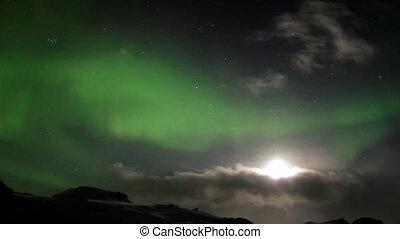 lichter, wolkenhimmel, nördlich
