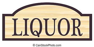 licor, de madera, señal, tienda