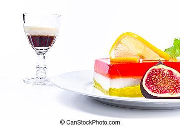licor, fruta, geléia
