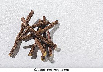 Licorice medicinal plant root