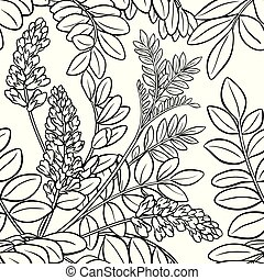licorice seamless pattern