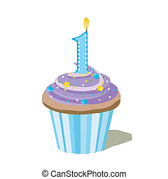 liczba, cupcake