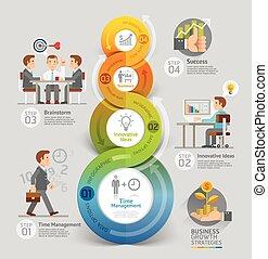 liczba, infographic, projektować, sieć, chorągiew, timeline...
