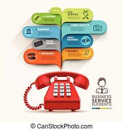 liczba, template., szablon, sieć służba, ikony, projektować...