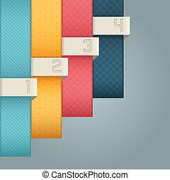 liczbowany, banners., projektować, szablon