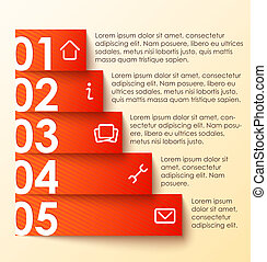 liczbowany, infographics, chorągiew, chorągiew, opcje