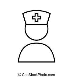 lid, medisch, vector, personeel