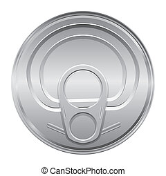 lid of a tin - Silver color cover from soda cans. Vector.