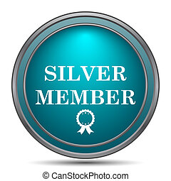 lid, zilver, pictogram