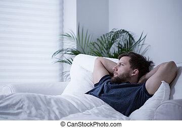 lidande, från, sömnlöshet