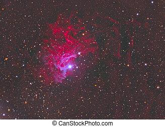 lidelsefull, stjärna, nebulosa