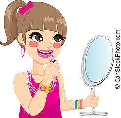 liden, makeup, pige