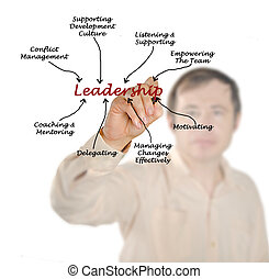 liderança, diagrama