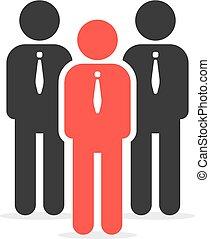 liderança, semelhante, indivíduo, pessoa