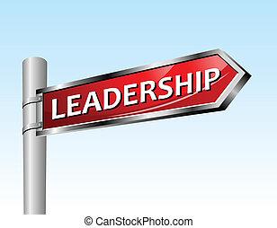liderança, seta, sinal estrada