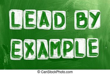 liderar, por, exemplo, conceito