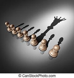 liderazgo, búsqueda