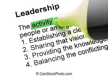 liderazgo, palabra
