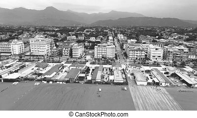 Lido Camaiore in Tuscany, aerial view