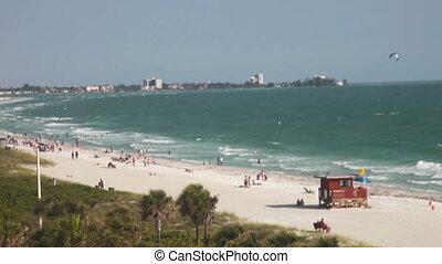 lido, plaża, floryda, zoom na zewnątrz
