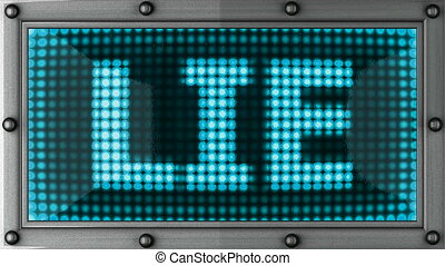 lie  announcement on the LED display