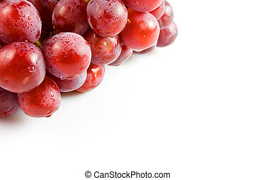lieb, hintergrund, freigestellt, trauben, rosa, weißes